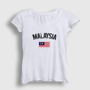 Malezya Kadın Tişört beyaz