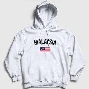 Malezya Kapşonlu Sweatshirt beyaz