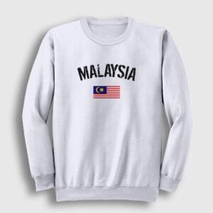 Malezya Sweatshirt beyaz