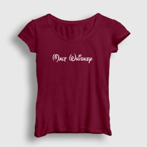 Malt Whiskey Kadın Tişört bordo
