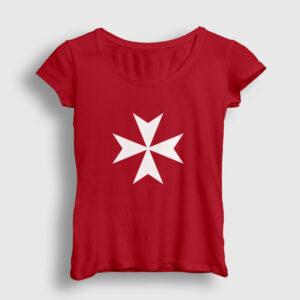 Malta Kadın Tişört kırmızı