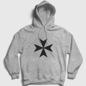 Malta Kapşonlu Sweatshirt gri kırçıllı