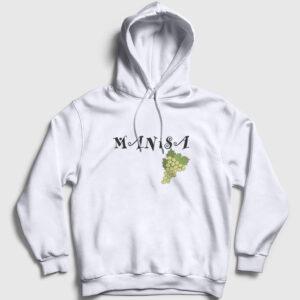 Manisa Kapşonlu Sweatshirt beyaz
