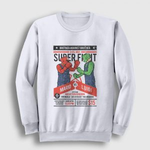 Mario vs Luigi Sweatshirt beyaz