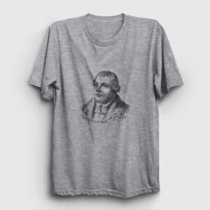 Martin Luther Tişört gri kırçıllı