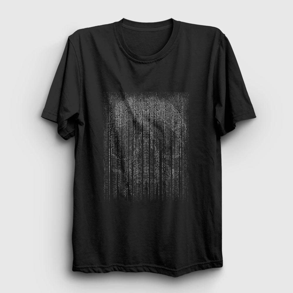 matrix kurukafa tişört siyah