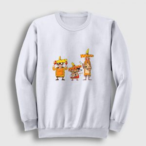 Meksikalı Çalgıcılar Sweatshirt beyaz