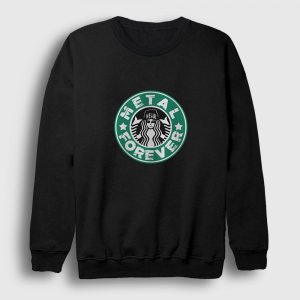 Metal Sweatshirt - Starbucks siyah