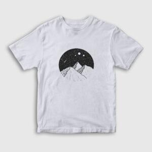Meteor Yağmuru Çocuk Tişört beyaz