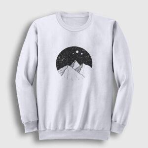 Meteor Yağmuru Sweatshirt beyaz