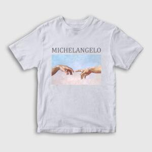 Michelangelo Çocuk Tişört beyaz
