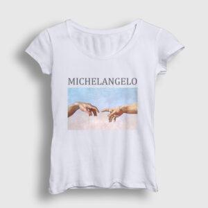 Michelangelo Kadın Tişört beyaz