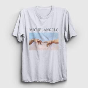 Michelangelo Tişört beyaz
