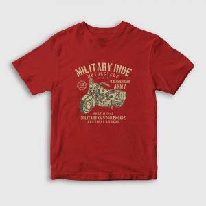 Military Ride Çocuk Tişört kırmızı