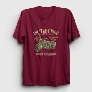Military Ride Tişört bordo