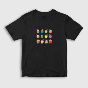Mini Dondurmalar Çocuk Tişört siyah
