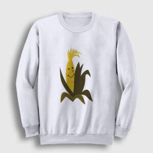 Mısır Koçanı Sweatshirt beyaz