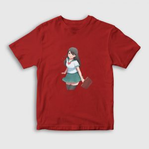 Moe Anime Çocuk Tişört kırmızı