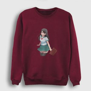 Moe Anime Sweatshirt bordo