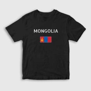 Moğolistan Çocuk Tişört siyah
