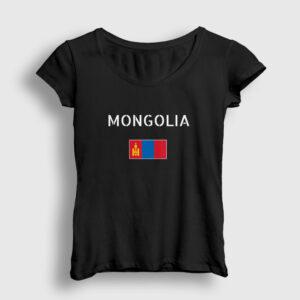 Moğolistan Kadın Tişört siyah