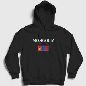 Moğolistan Kapşonlu Sweatshirt siyah