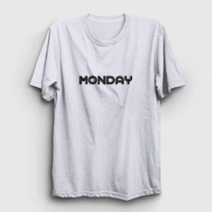 Monday Tişört beyaz