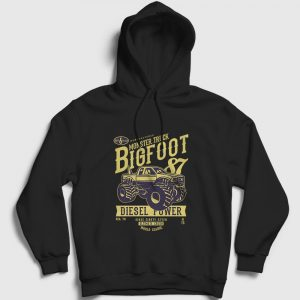 Monster Truck Big Foot Kapşonlu Sweatshirt siyah