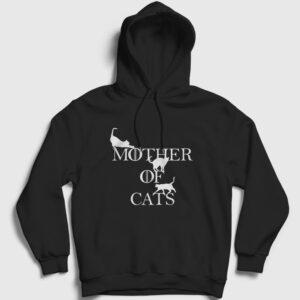 Mother Of Cats Kapşonlu Sweatshirt siyah
