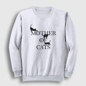 Mother Of Cats Sweatshirt beyaz