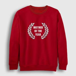 Mother of the Year Sweatshirt kırmızı