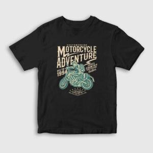 Motorcycle Adventure Çocuk Tişört siyah