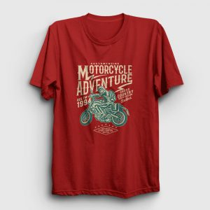 Motorcycle Adventure Tişört kırmızı