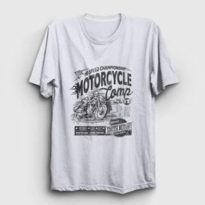 Motorcycle Camp Tişört beyaz