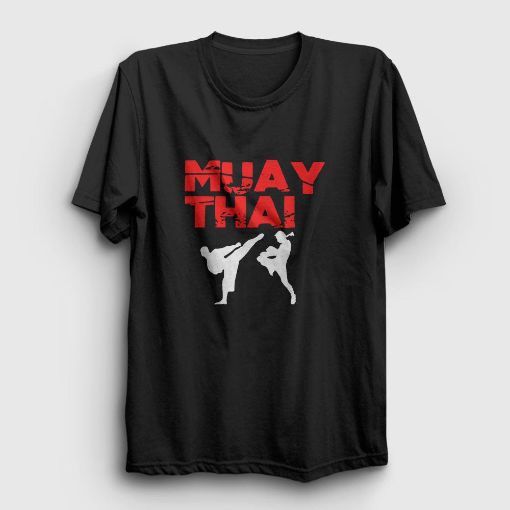 muay thai tişört siyah