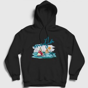 Muğla Kapşonlu Sweatshirt siyah