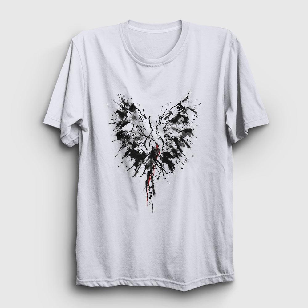 mürekkep kanatlar tişört beyaz