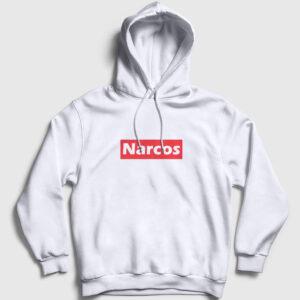 Narcos Kapşonlu Sweatshirt beyaz