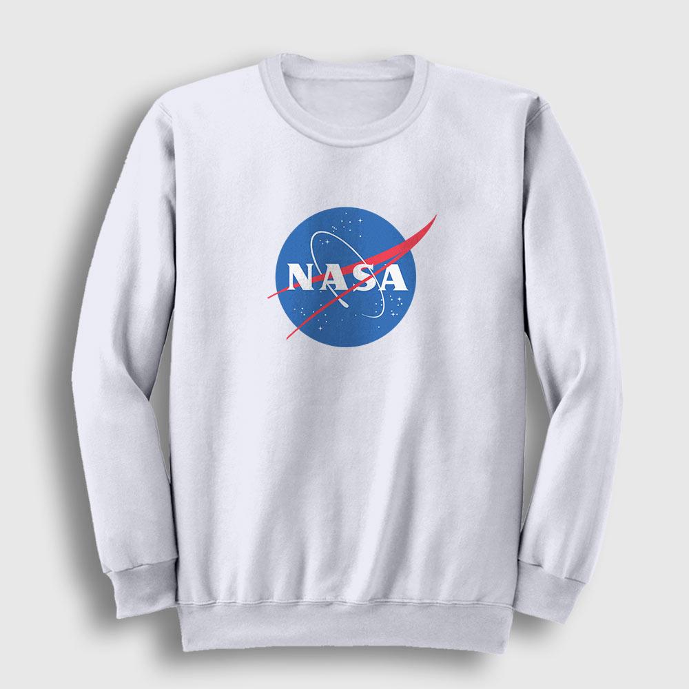 Nasa Sweatshirt – Nasa Logosu beyaz