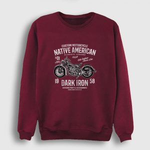 Native American Motor Sweatshirt bordo
