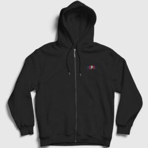 Nepal Fermuarlı Kapşonlu Sweatshirt siyah