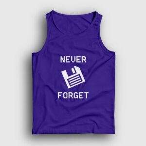 Never Forget Floppy Disk Atlet lacivert