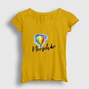 Nevşehir Kadın Tişört sarı