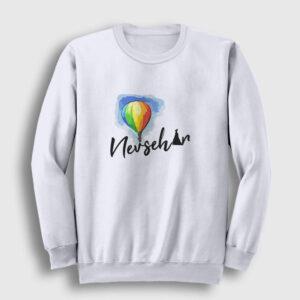 Nevşehir Sweatshirt beyaz
