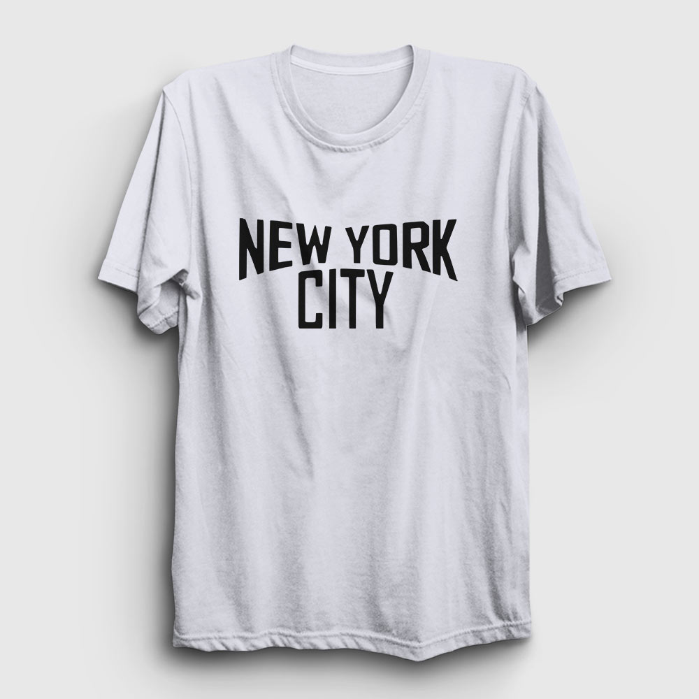 new york city tişört beyaz