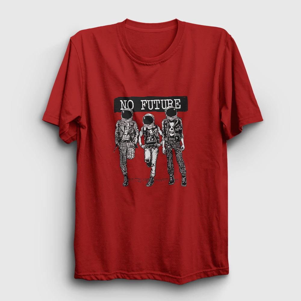 No Future Tişört kırmızı