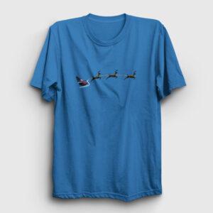 Noel Baba ve Geyikler Tişört açık mavi