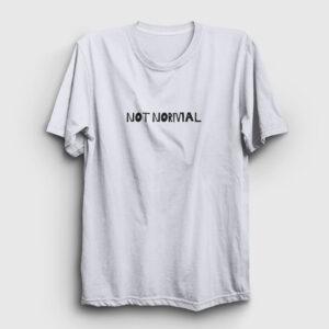 Not Normal Tişört beyaz