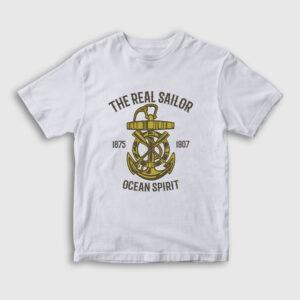 Ocean Spirit Çocuk Tişört beyaz