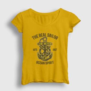 Ocean Spirit Kadın Tişört sarı